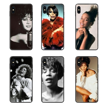 Adults For Redmi Note 4 5 5A 6 7 8 8T 9 9S Pro Max Black Soft TPU Cell Cover Case Sexy Singer Whitney Houston image