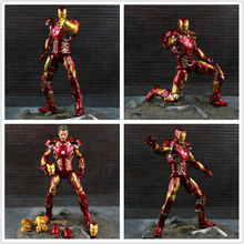 Marvel Avengers Infinity War Iron Man MK 43 Tony Stark Figure Action Toy 7 Model Fan Gift Collection