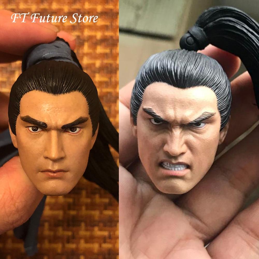 En Stock 1/6 ancien général mâle tête sculpte Zhao Yun en colère/calme Expression tête sculptée avec un modèle de ruban pour 12 ''corps