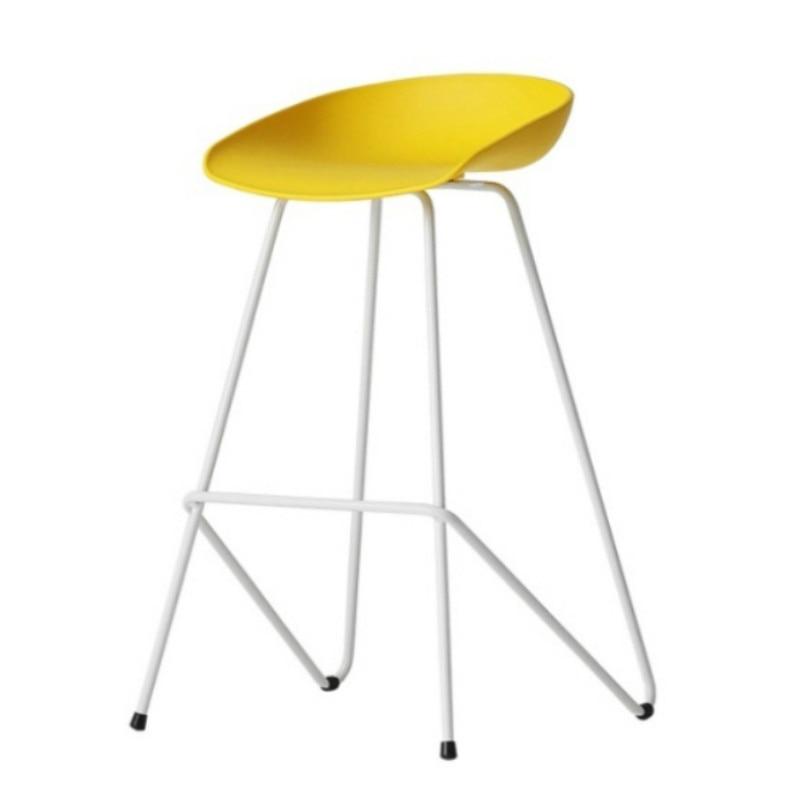 Nordic Bar Chair Fashion Creative Front Desk Back Bar Chair Modern Simple Iron Artist High-footed Stool