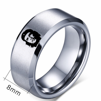 8mm Titanium Ring For Men amd Women Che Guevara Ring image