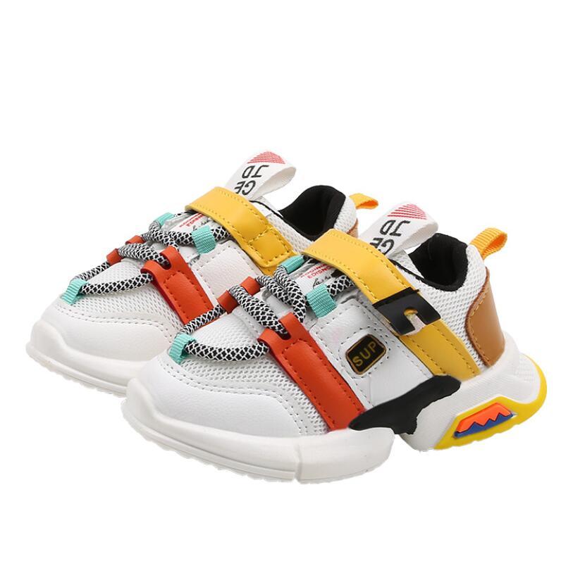 Enfants chaussures en cuir 2020 chaussures décontractées filles mocassins toutes les tailles 21-30 garçons sans lacet doux respirant chaussure princesse fête baskets