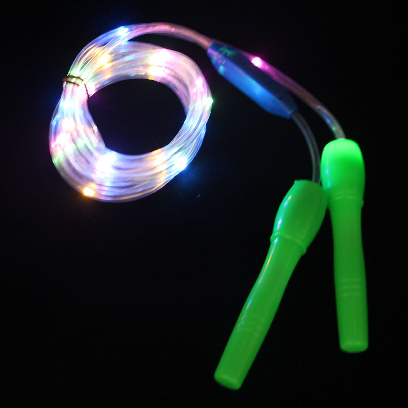 LED Light Included Shining Jump Rope Colorful Flash Night Light Stall Toy Children Students Style Fitness Supplies