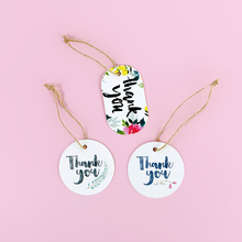 50PCS Thank You Tags Kraft Paper Tags With Strings Hang Tag For  Wedding Favors Candy/Gift/Cookies Display Packing Label Card
