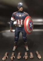 1/6 Scale Captain America combats Clothing Set with Belt Straps Shield Boots 8pcs Hand Model For 12in Action Figure Collection