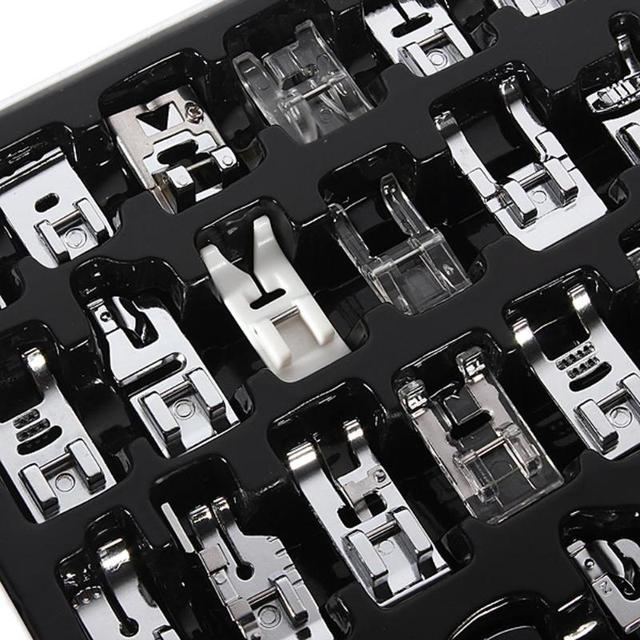 32pcs Domestic Sewing Machine Foot Presser Braiding Blind Stitch Darning Presser Feet Kit Set for Brother Singer Janome