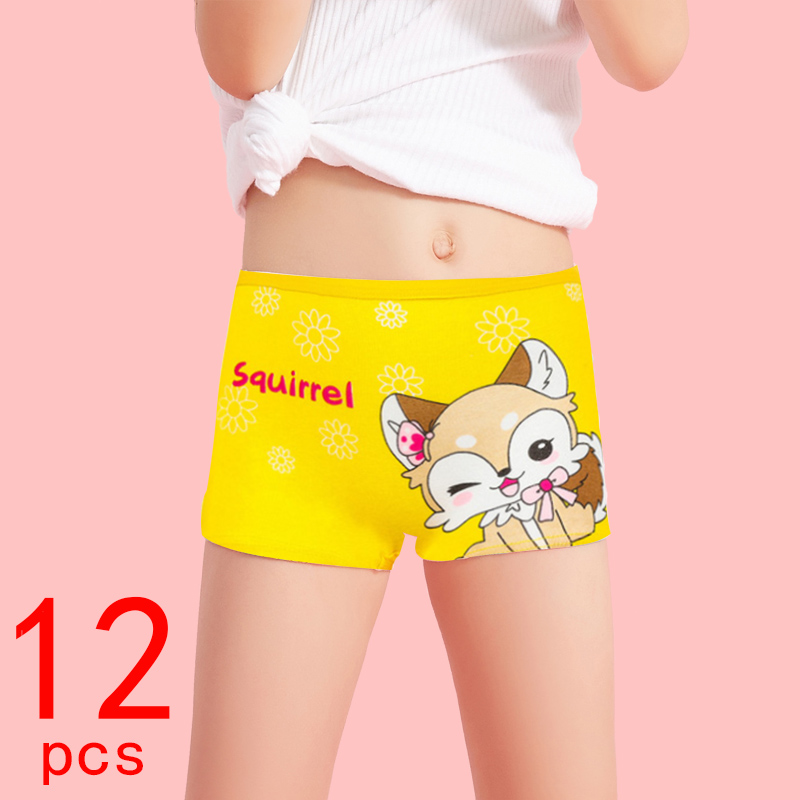 10 Pieces/lot Design Children's Girls Panties Cotton Soft Pretty Cartoon Child Underwear for Girls Kids Boxer Panties Breathable
