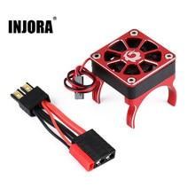 INJORA-Radiador de Motor para coche a control remoto, ventilador de refrigeración con enchufe TRX para coche trepador de control remoto TRAXXAS TRX-4 TRX-6 G63 SLASH