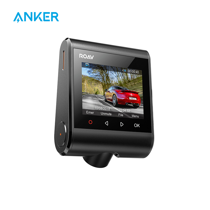 Anker roav traço cam s1, câmera do painel com sensor sony, hd completo 1080p, visão nighthawk, built-in gps, wi-fi & lente grande angular