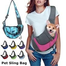 Oxford – sac à bandoulière en maille pour chien, sacoche de transport pour chiot S/L, voyage en plein air, confort unique, fourre-tout