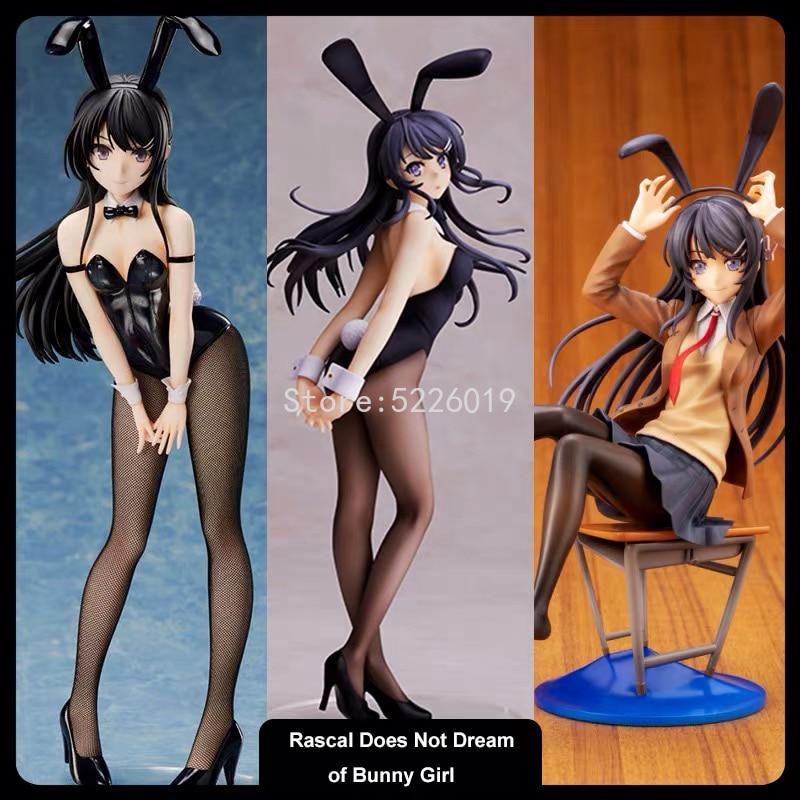20cm Anime Schurke Nicht Traum von Bunny Mädchen Senpai Sexy Figur Spielzeug Senpai Sakurajima Mai Stuhl Sexy Anime action Figur Spielzeug
