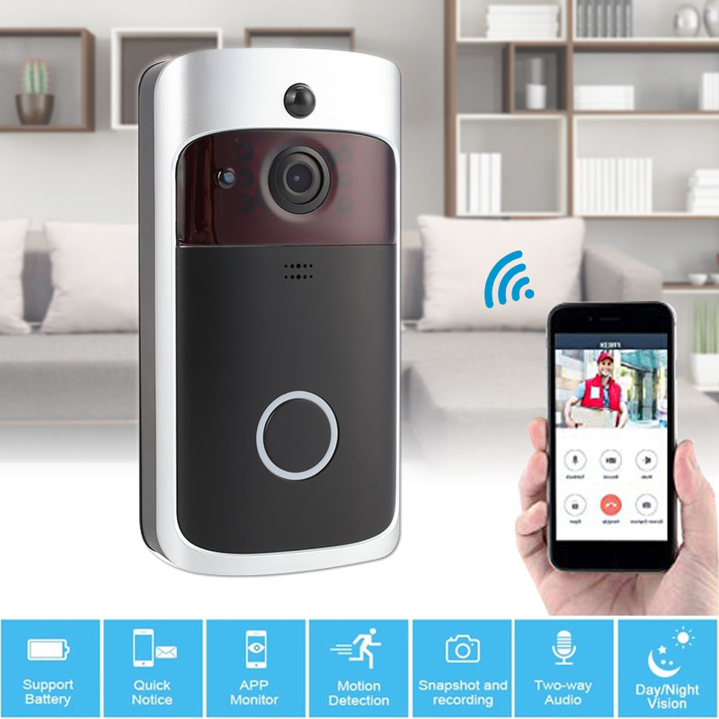 Universal Intercom WiFi Wireless Doorbell Video Recorder Home Security Night Vision Wide Angle IR Ring Door Remote Monitoring
