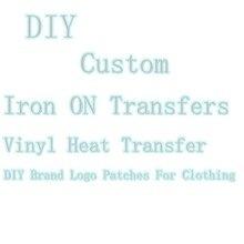 Ferro em transferências para vestuário adesivos térmicos marca logotipo remendo personalizado marca transfert thermocollants parches tarja diy