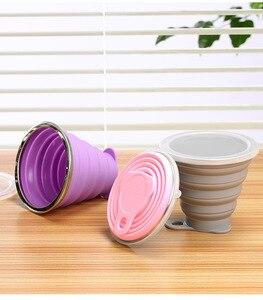 Image 3 - Tasse de voyage pliable télescopique en Silicone, 270ML, tasse à café rétractable en acier inoxydable