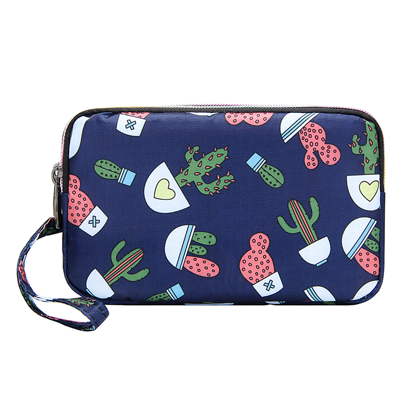 Wristlets-Bags Floral Nylon Large-Capacity Outdoor Women Phone-Bag Coin-Purse Small Female