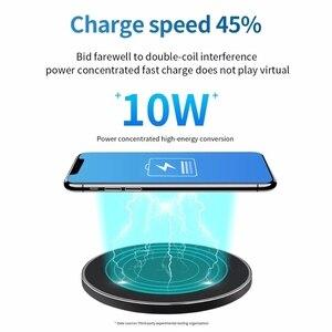 Image 5 - Sindvor 10W מהיר אלחוטי מטען עבור סמסונג S10 S20 S9 הערה 10 USB צ י טעינת Pad עבור iPhone SE 11 XS XR X 8 בתוספת Airpods פרו