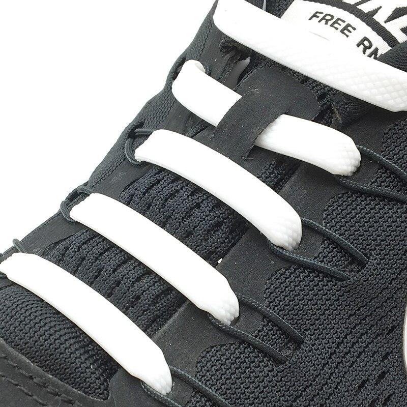 12 Colors 16pcs/lot Silicone Shoelaces No Tie Shoelaces Elastic Lace Shoelace Creative Lazy Silicone Laces Rubber Lace