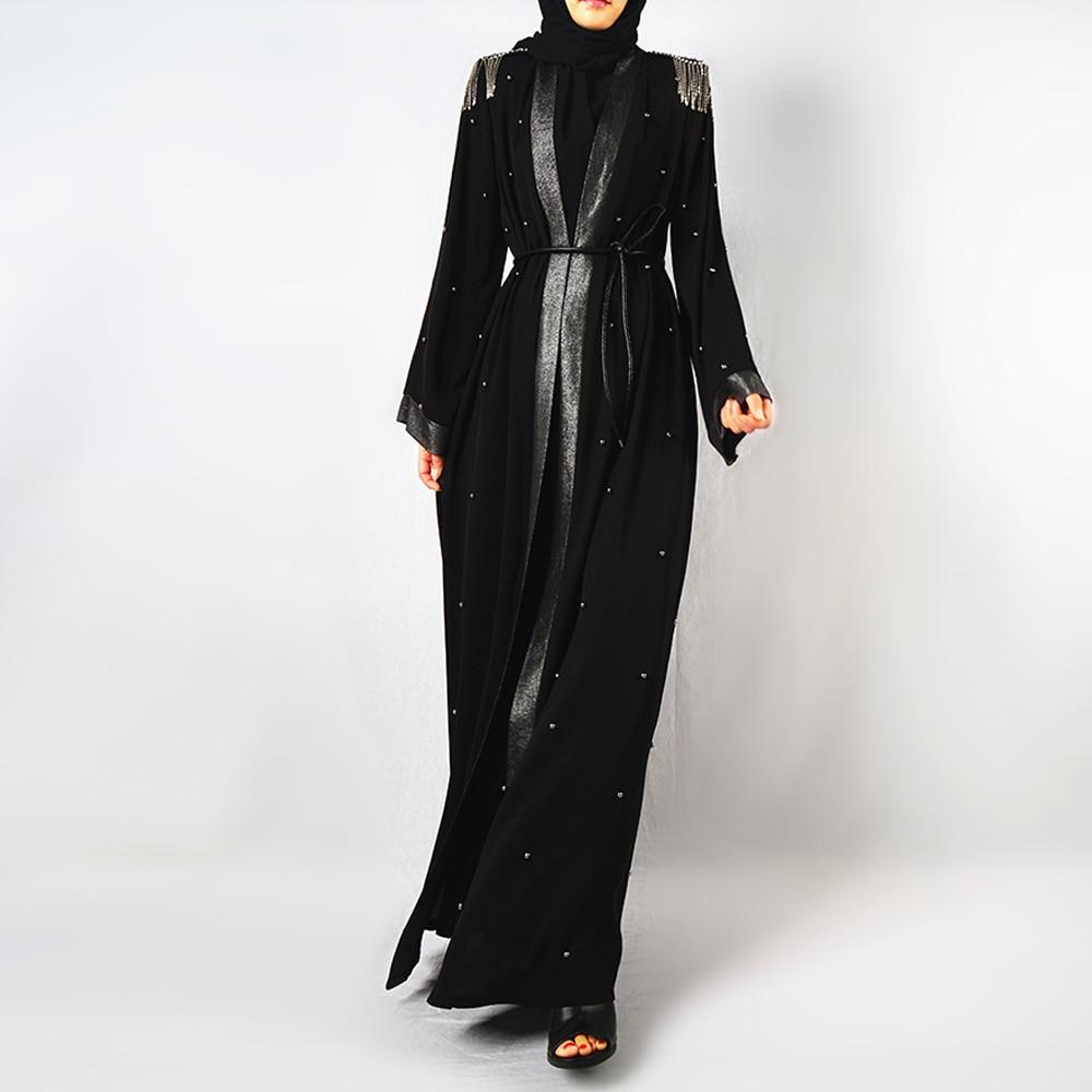 Женское кимоно с блестками Abaya, кардиган, хиджаб, мусульманское платье, кафтан, Дубай, Рамадан, мусульманская одежда