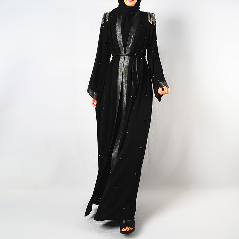 Sequin Abaya Turkey Kimono Mujer Cardigan Hijab Muslim Dress Kaftan Dubai Ramadan Caftan Islamic Clothing Abayas For Women Niqab