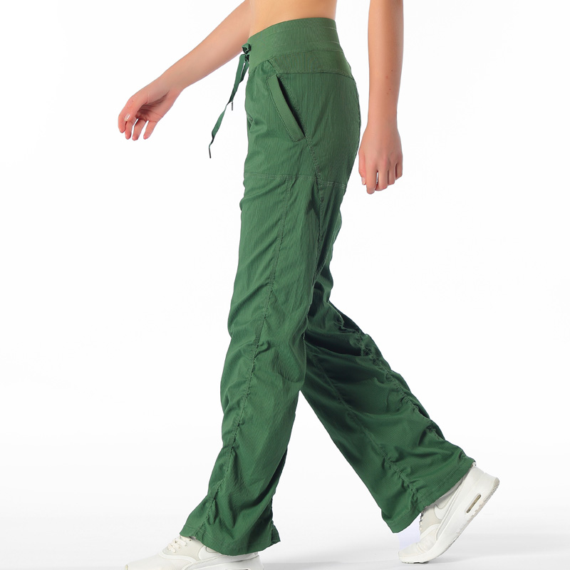 2020 Gym Loose Full Length Pants Wide Leg Yoga Pants Workout Running Exercise Trousers 4 Way Stretch Capris