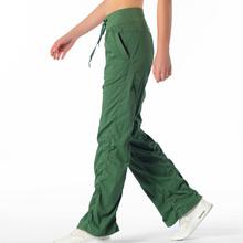 2020 Gym luźne spodnie pełnej długości spodnie szerokie nogawki trening bieganie spodnie do ćwiczeń 4 Way Stretch capris tanie tanio COTTON Poliester Szerokie spodnie nogi NONE WOMEN