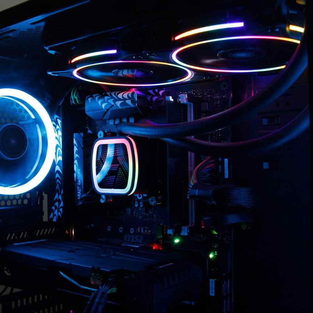 Chłodnica procesora darkFlash wentylator komputera PWM 120mm chłodnica AMD Intel LGA/1151/775/AM3 chłodnica wodna AM4 cichy procesor chłodzenie wodne