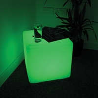 Rechargeable LED Lamp 24keys Remote Control 40*40*40cm Chair SMD 5050 RGB LED Cube Chair Waterproof LED RGB Free Shipping 2pcs