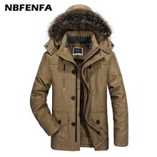 7XL Men Winter Jackets Hooded Coats Male Windbreaker Warm Thick Parkas Sport Outdoor Outwears Solid Fashion Men Clothing LX167
