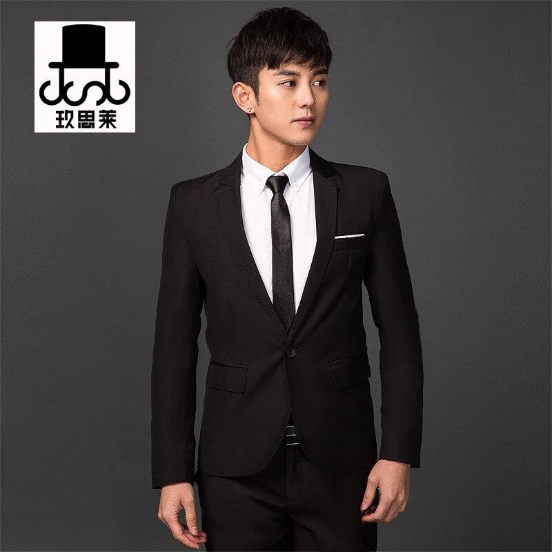 Men Korean-style Slim Fit Small Suit Spring And Autumn New Style Coat Suit Men's England Solid Color Single Suit Casual Men's