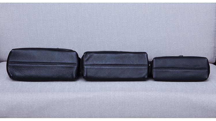 ombro de couro macio casual crossbody pequeno compartimento múltiplo