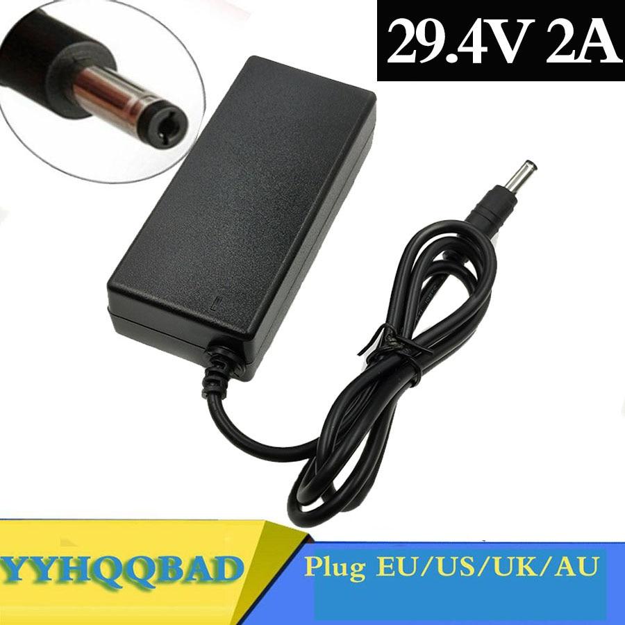 Зарядное устройство YYHQQBAD 29,4 в, 2 А для литиевых аккумуляторов 24 В, 25,2 в, 25,9 в, 29,4 в, 7S, 29,4 в, зарядное устройство для электронного велосипеда, зар...