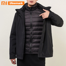 Uleemark Men's Down Jacket Mountain Waterproof Ski Jacket Warm Winter Rain Coat