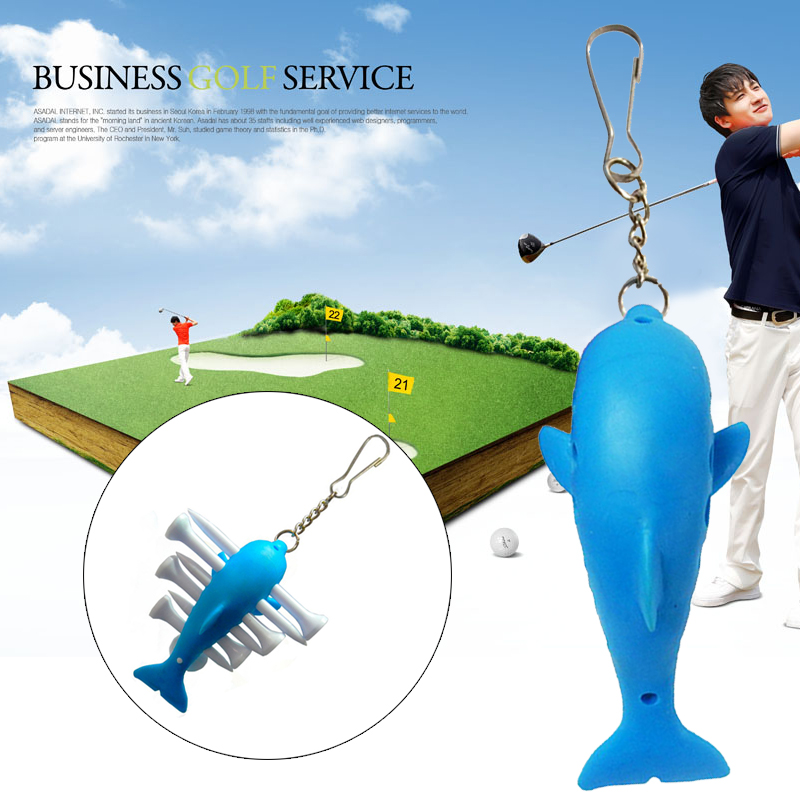 Shark Ball Seat TPE Sporting Golf Nail Seat A275 Action Correction Device Golf Ball Fork Blue Training Leisure Playing