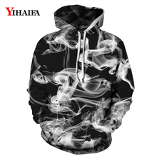 Fashion 3D Hoodies Mens Womens Sweatshirt Creatice Smog Graphic Print Casual Pullover Black Tracksuit Couples Tops