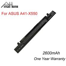 PINZHENG 2600mAh Laptop Battery For Asus HP A41-X550 X550A Y481C Y581C X450VC X550V K550J For ASUS A450 A550 R510 Series Battery