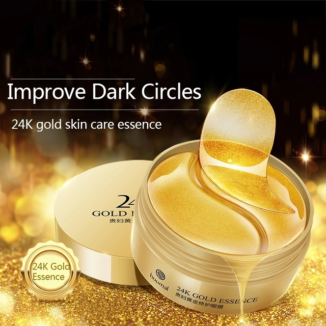 60pcs 24K Gold Collagen Eye Mask Anti Wrinkle Sleep Crystal Eye Patch Moisturizing Dark Circles Remover Eye Mask Eye Care 4