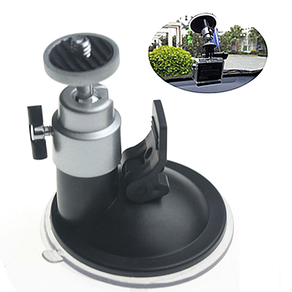 """Image 5 - Car Auto Flexible Windshield Suction Cup Mount Holder Vehicle Window mounted rack 1/4"""" tripod mount for Camera Video DVR GPS-in GPS Stand from Automobiles & Motorcycles"""