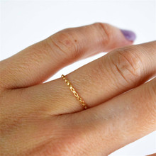 14K Gold Filled Chain Rings Knuckle Ring Minimalism Gold Jewelry Anillos Mujer Bague Femme Boho Aneis Ring For Women