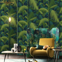 American Rural Non-woven Wallpaper Bedroom Living Room TV Emerald Green Background Wallpaper Retro Cottage Leaves цена 2017