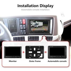 Image 5 - Jansite 9 インチ有線カーモニターtft車のリアビューモニター駐車場バックミラーシステムバックアップリバースカメラ用ファーム機械
