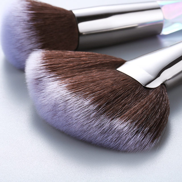 FLD Crystal Makeup Brushes Set Powder Foundation Fan Brush Eye Shadow Eyebrow Professional Blush Makeup Brush Tools 5