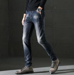 Мужские Стрейчевые джинсы, повседневные облегающие брюки, высокое качество, бесплатная доставка, 2019