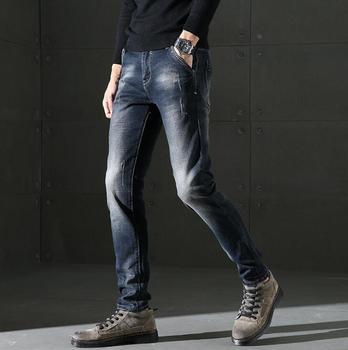 2019 عارضة تمتد جينز ضيق للرجال خصم أعلى جودة طويلة السراويل السراويل شحن مجاني
