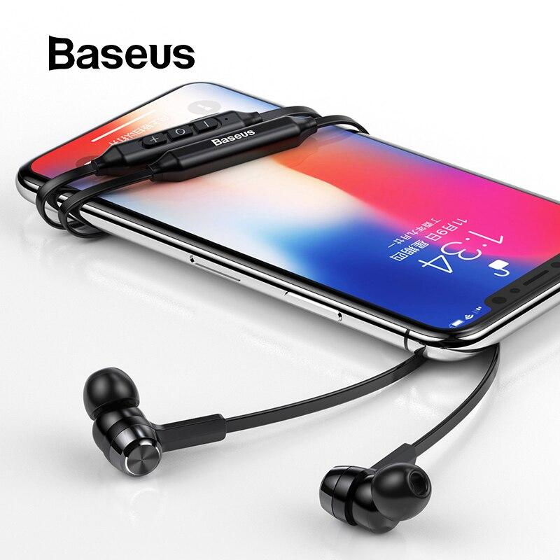 Baseus s06 neckband bluetooth fone de ouvido sem fio para xiaomi iphone fones estéreo auriculares fone com microfone