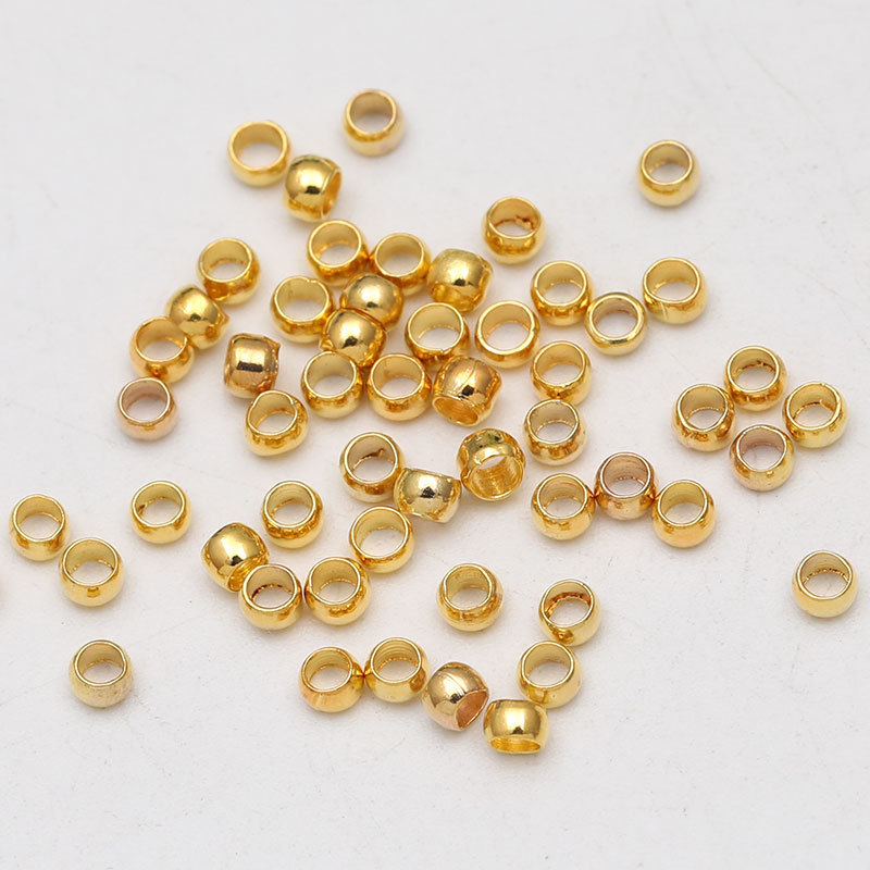 500 Silver Gold Round Crimp Beads 2//3//4mm End Beads Jewellery Findings Making