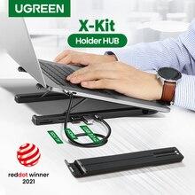 【NEW • X-Kit Halter HUB】UGREEN USB HUB Docking Station USB C 4K HDMI TF SD 2 USB 3,0 Ports Laptop Stehen für Macbook Dell USB HUB