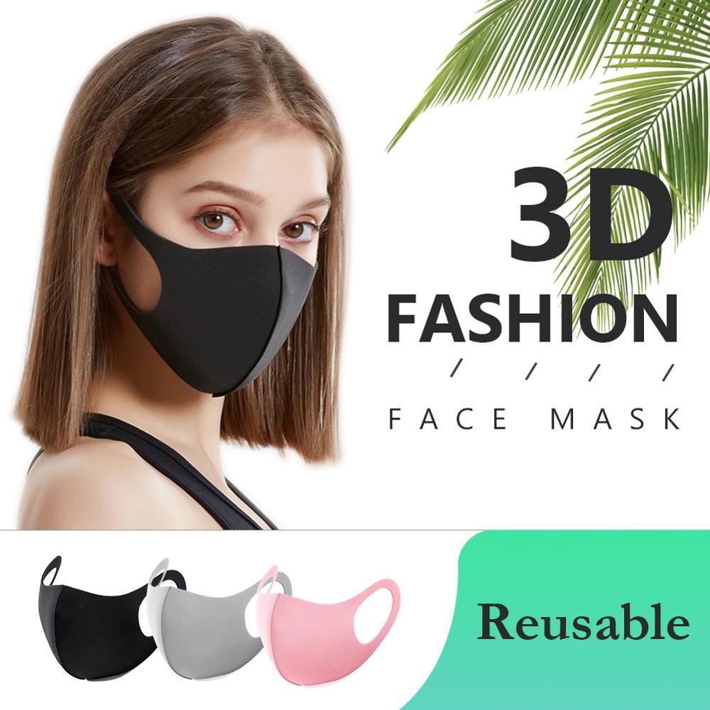 20 Pcs Fashionable Cotton Anti-Dust Face Mouth Masks Cover Black/gray/pink Reusable Washable Cubrebocas Mascarilla