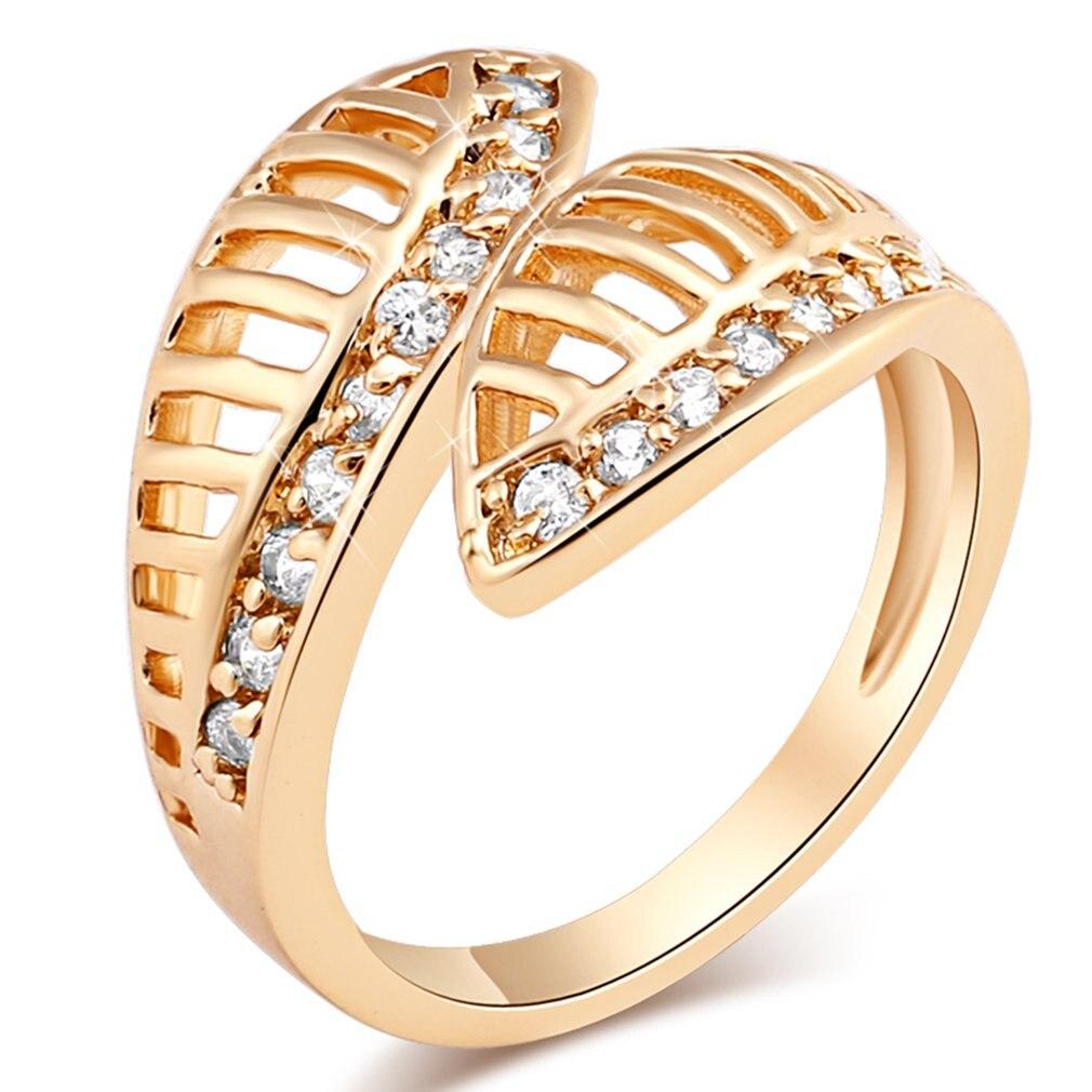 Nie-Stop Liebe Hohl Ring Reif Modeschmuck Dekoration Frauen Charming Hochzeit Engagement Ringe Kupfer