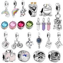 2020 Hot Sale 925 Sterling Silver Travel Series Charms Beads fit Original Pandora Charm Bracelets Women DIY Jewelry