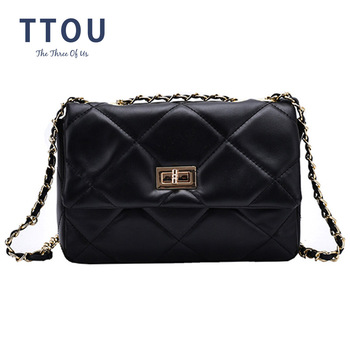 2020 Fashion Quilted Woman Shoulder Bags Famous Brand Luxury Handbags Women Bags Designer High Quality PU Totes Women bag vento marea famous brand women handbags 2019 luxury crossbody for woman fashion design purses totes soft pu leather shoulder bag